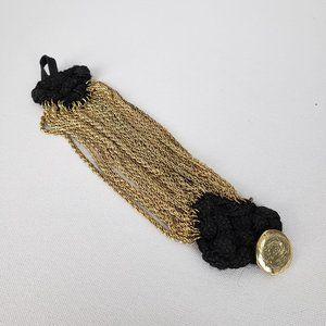 Jewelry - Gold & Black Chain Bracelet